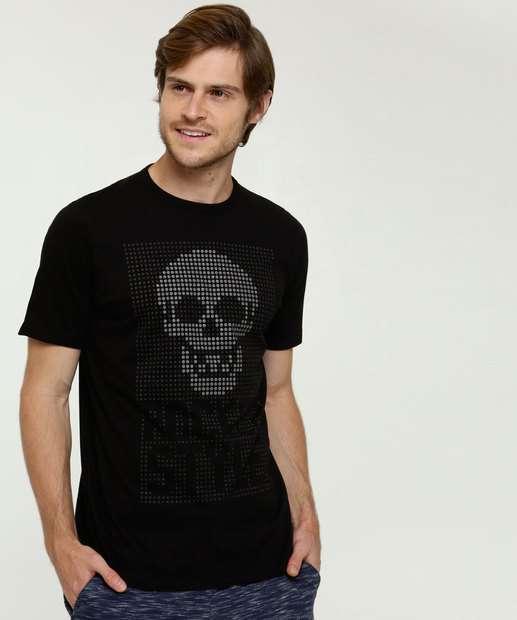 Image_Camiseta Masculina Estampa Caveira Manga Curta