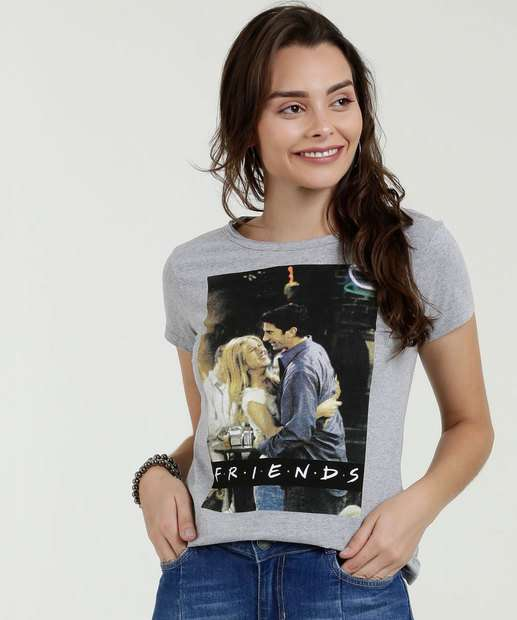 Image_Blusa Feminina Estampa Friends Manga Curta Warner Bros