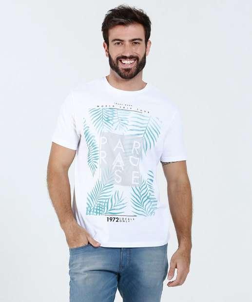 Image_ Camiseta Masculina Estampa Folhas Marisa