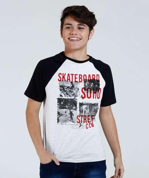 Image_Camiseta Juvenil Estampa Skate Manga Curta Marisa