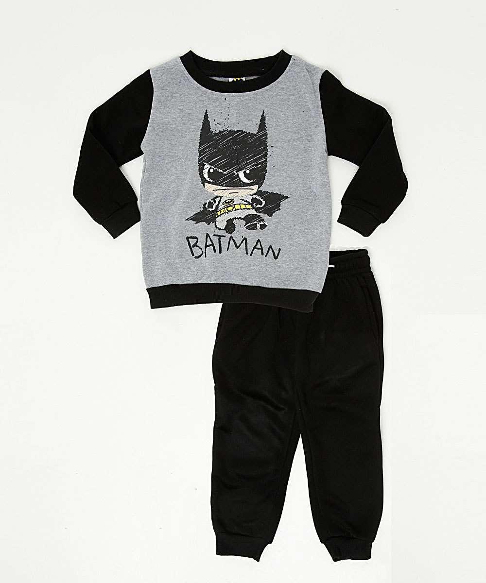 Conjunto Infantil Moletom Batman Liga da Justiça