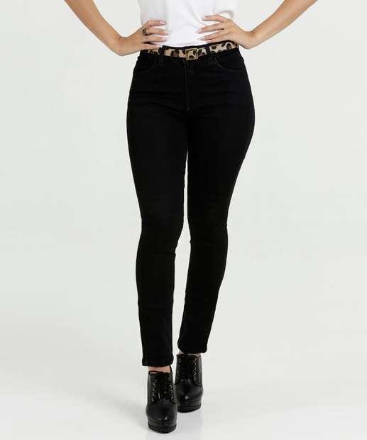 Image_Calça Feminina Jeans Skinny Cinto Razon