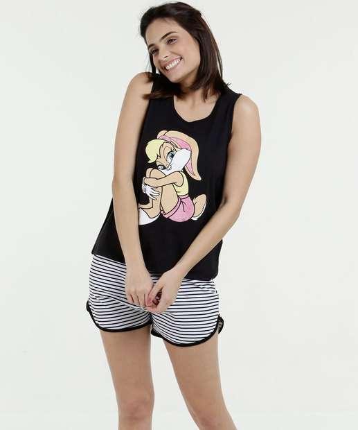 Image_Pijama Feminino Short Doll Estampa Lola Disney