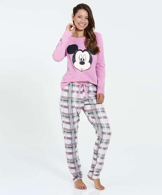 Image_Pijama Feminino Manga Longa Mickey Disney