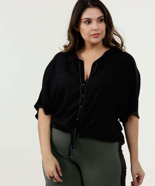 Image_Camisa Feminina Amarração Botões Plus Size Marisa