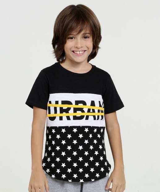 Image_Camiseta Infantil Estampa Frontal Estrelas Manga Curta Marisa