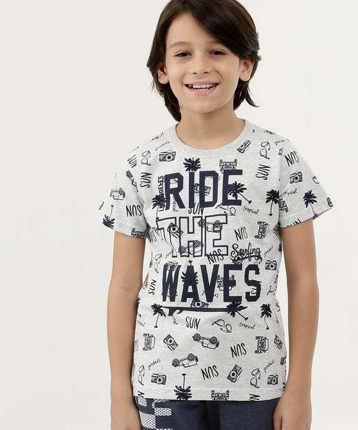 Image_Camiseta Infantil Estampada Manga Curta