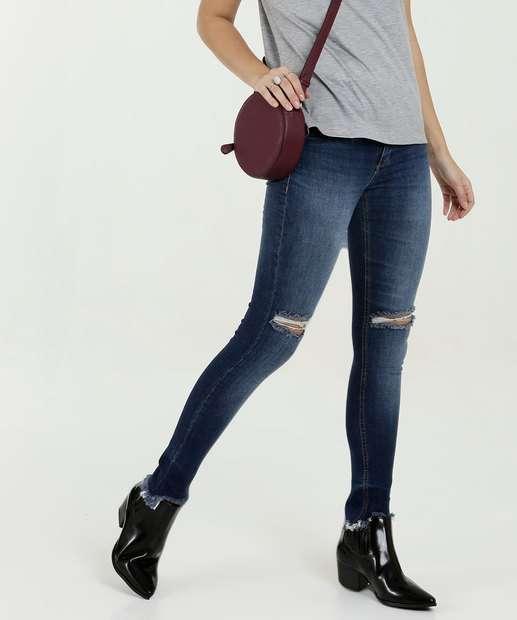 Image_Calça Feminina Skinny Destroyed Uber Jeans