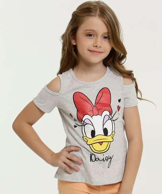 Image_Blusa Infantil Estampa Margarida Open Shoulder Manga Curta Disney