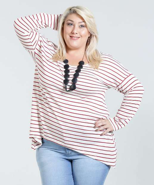Image_Blusa Feminina Listrada Plus Size Marisa