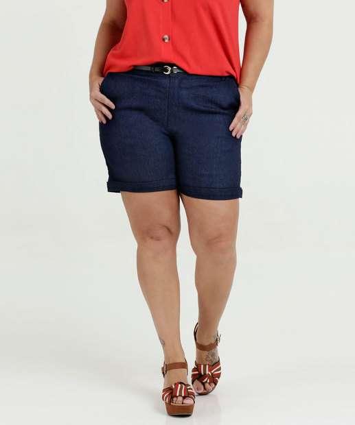 Image_Bermuda Feminina Sarja Cintura Média Plus Size Razon