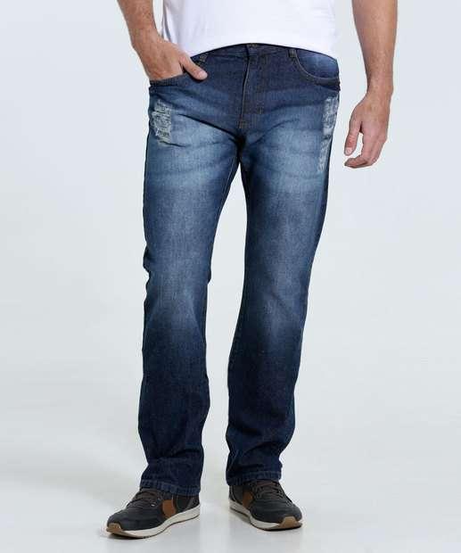 Image_Calça masculina Reta Jeans Puídos Marisa