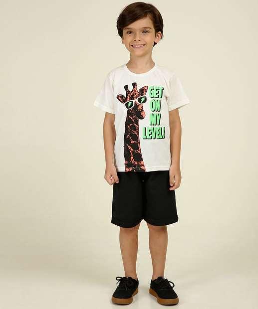 Image_Conjunto Infantil Manga Curta Estampa Girafa Tam 4 a 10