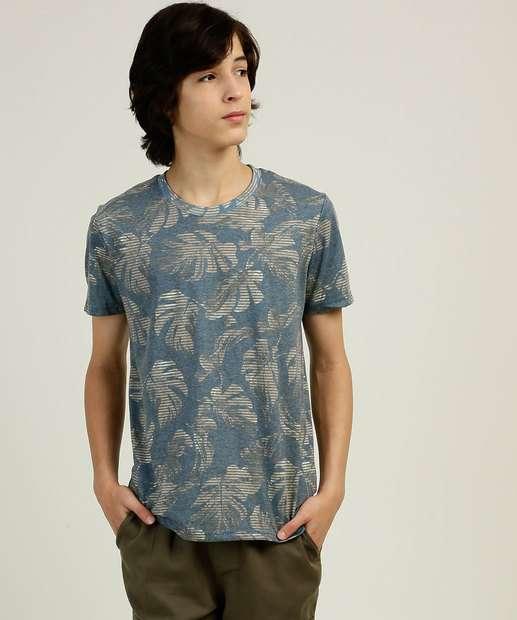 Image_Camiseta Juvenil Manga Curta Estampa Tropical Tam 10 a 16  Yacht Master