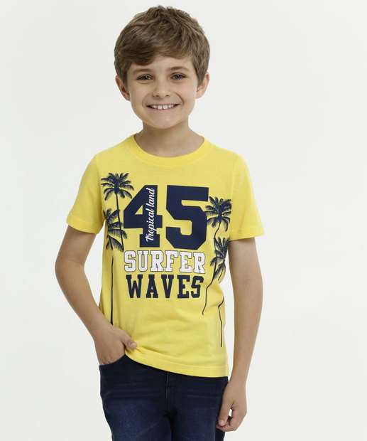 Image_Camiseta Infantil Estampa Surf Manga Curta MR