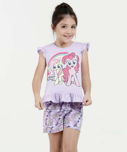 Image_Pijama Infantil Estampa My Little Pony Manga Curta Hasbro
