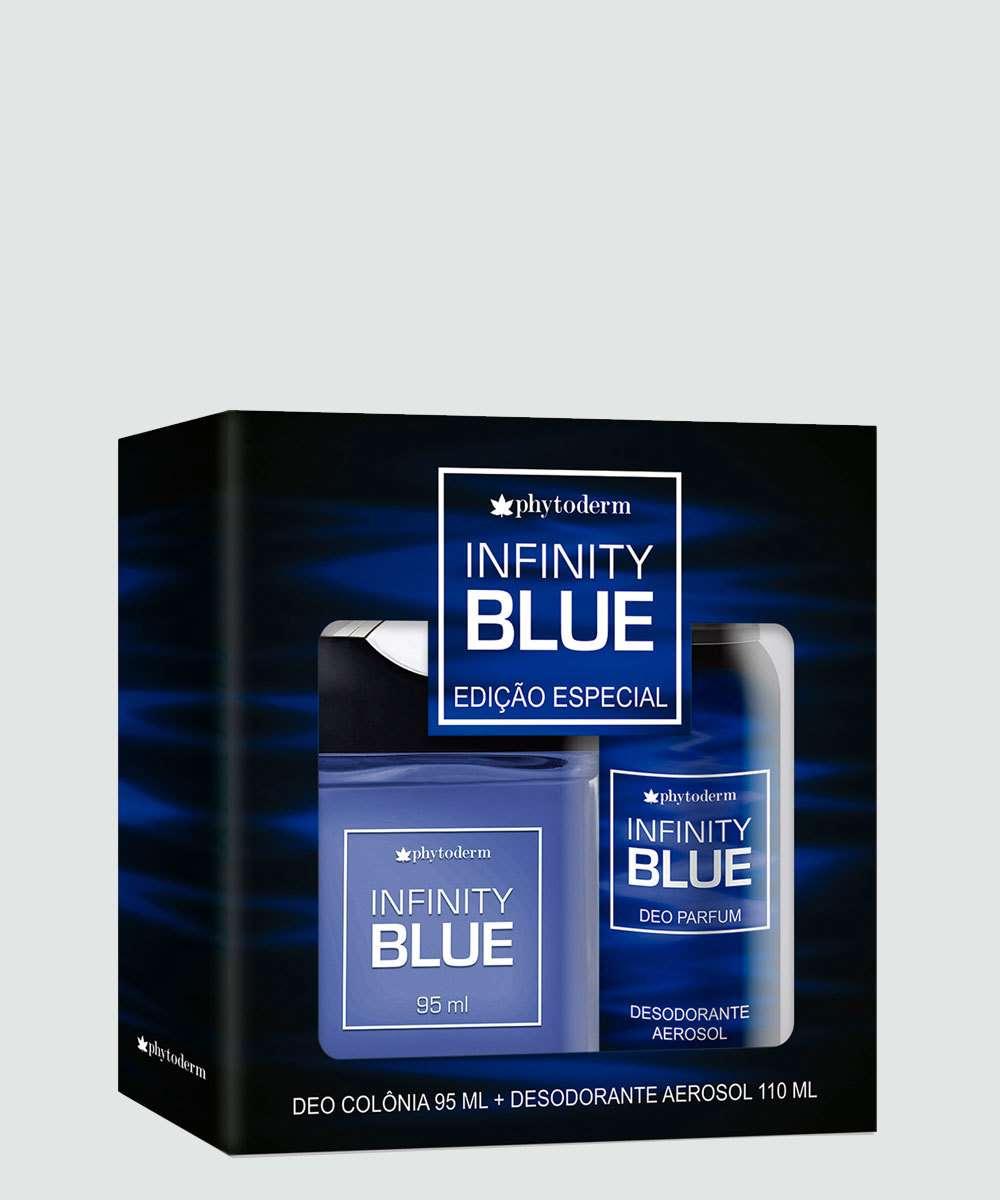 56865cc98c7 Kit Masculino Desodorante 110ml e Colônia Infinity Blue Phytoderm 95ml