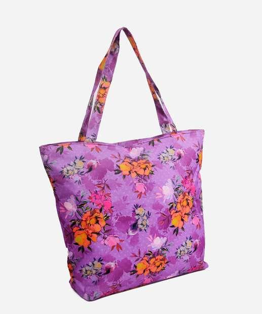Image_Bolsa Feminina De Praia Estampa Floral Clio