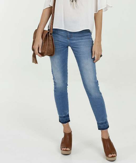 Image_Calça Feminina Jeans Skinny Barra Desfeita Marisa