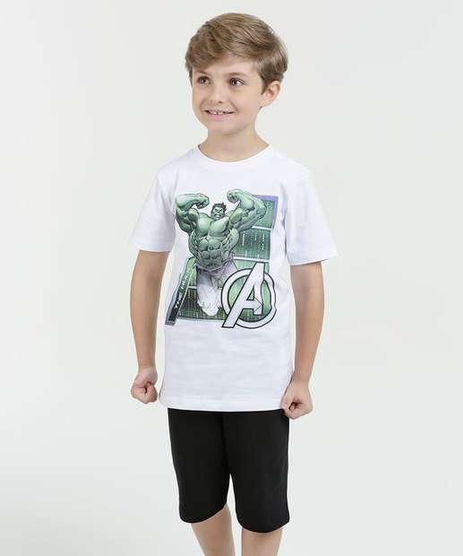 Image_Conjunto Infantil Estampa Hulk Manga Curta Marvel