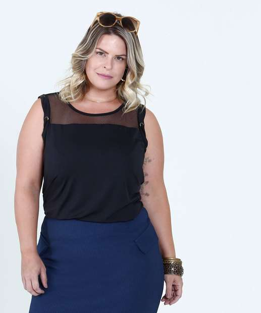 Image_Blusa Feminina Regata Tela Plus Size Texarte