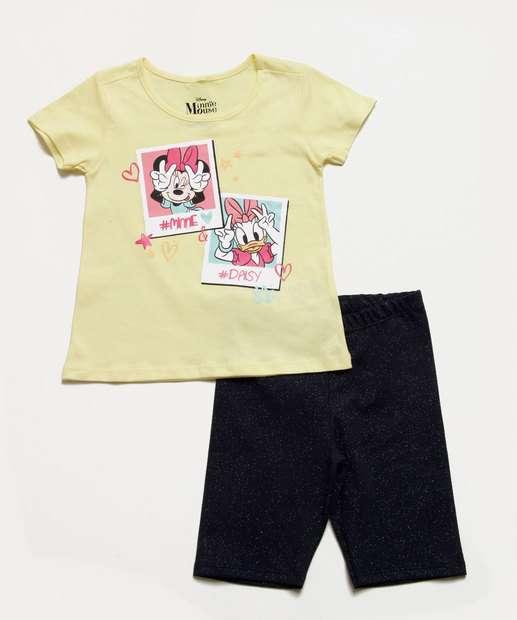 Image_Conjunto Infantil Minnie Glitter Manga Curta Disney