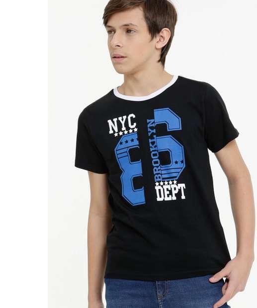 Image_Camiseta Juvenil Estampa Frontal Manga Curta Tam 10 a 16