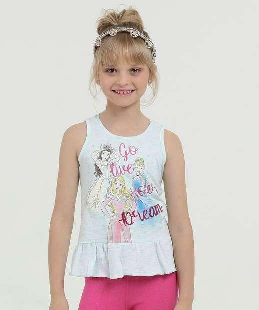 Image_Regata Infantil Estampa Princesas Paetês Disney