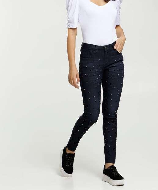 Image_Calça Skinny Feminina Pérolas Uber Jeans