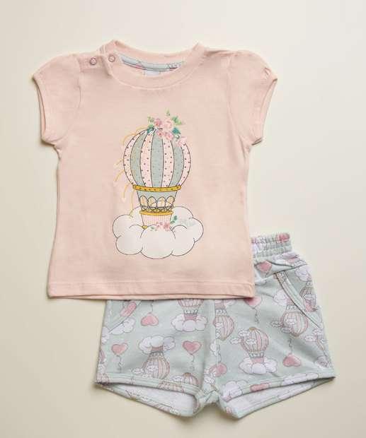Image_Conjunto Infantil Bebê Estampa Balão Manga Curta