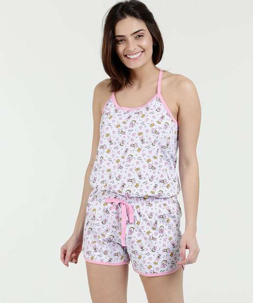Image_Pijama Feminino Estampa Margarida Nadador Disney
