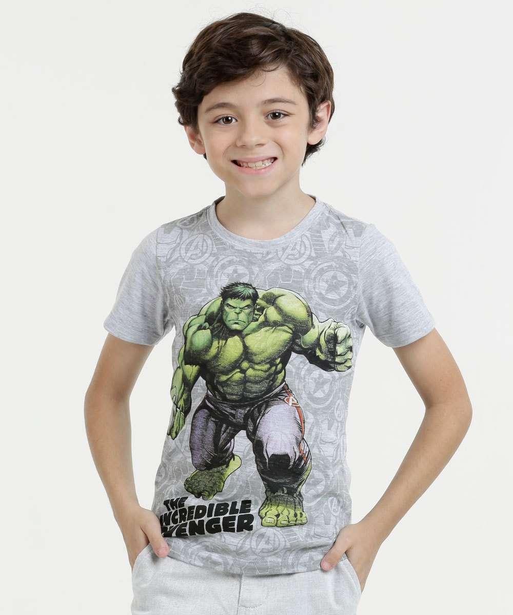 53e5e9ac2f Menor preço em Camiseta Infantil Flamê Estampa Hulk Manga Curta Marvel