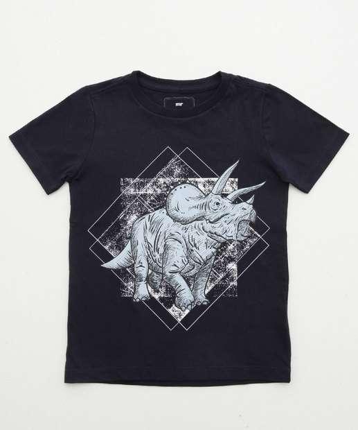 Image_Camiseta Infantil Dinossauro Manga Curta MR
