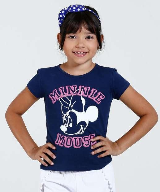 Image_Blusa Infantil Manga Curta Estampa Minnie Disney