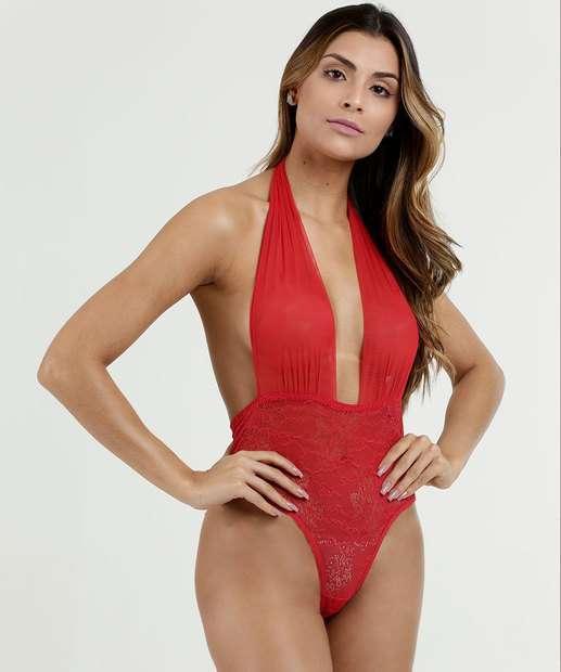 Image_Body Feminino Sensual Decote Profundo Marisa