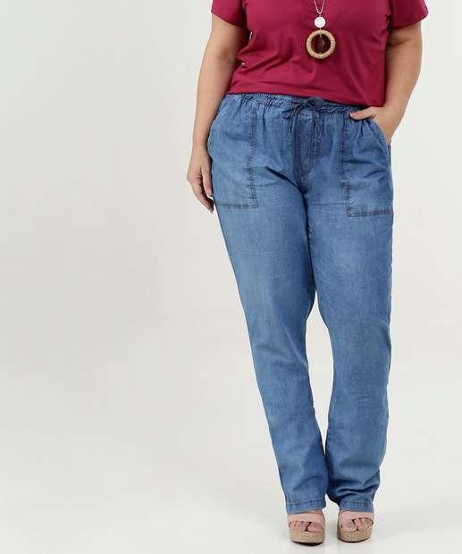 Image_Calça Feminina Jeans Boyfriend Plus Size