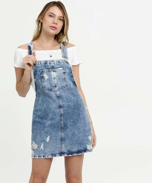 Image_Salopete Feminina Jeans Destroyed Marisa