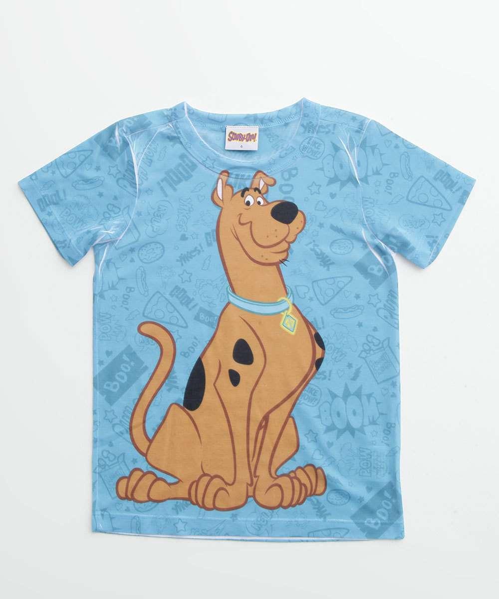 Camiseta Infantil Scooby Doo Manga Curta Warner Bros