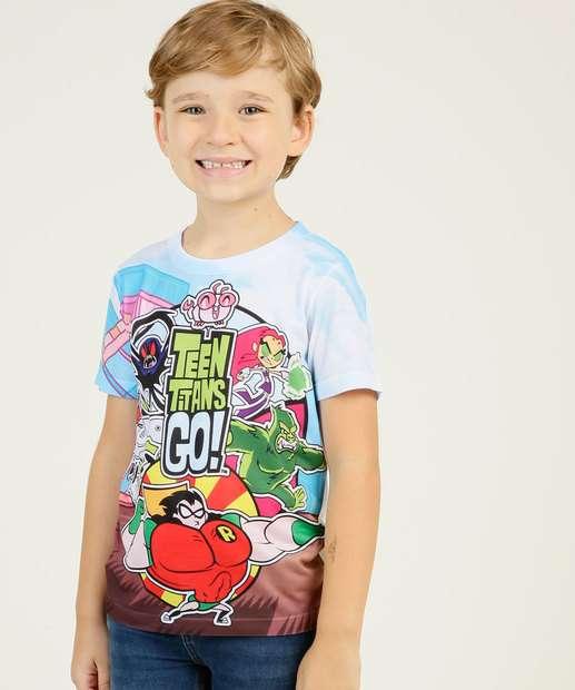 Image_Camiseta Infantil Jovens Titãs Manga Curta Warner Bros Tam 4 a 10