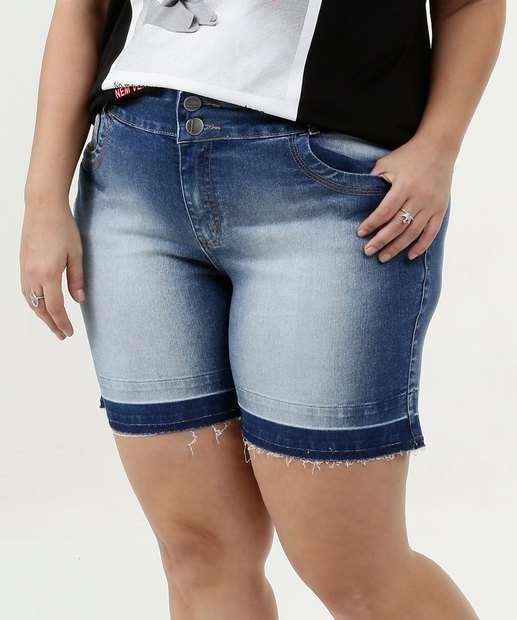 Image_Short Feminina Jeans Barra Desfiada Plus Size Marisa