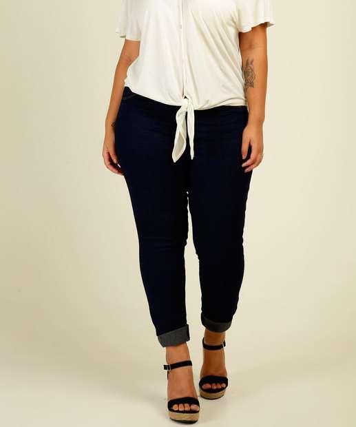 Image_Calça Plus Size Feminina Jeans Skinny Bolsos Biotipo
