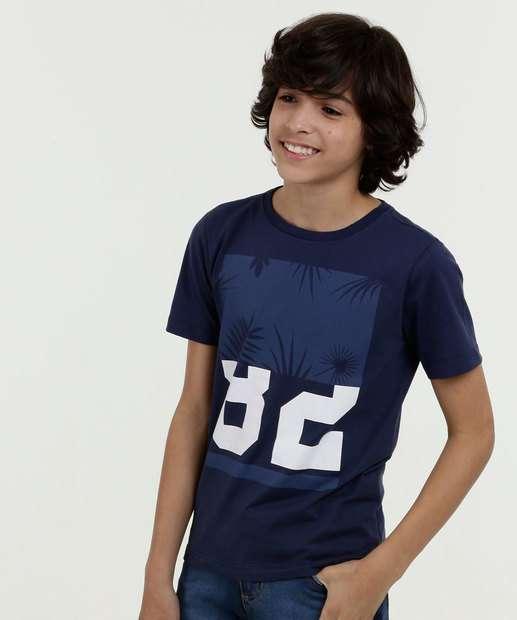 c837419d3 Camiseta Juvenil Estampa Frontal Manga Curta Marisa