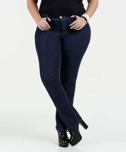 Image_Calça Feminina Jeans Boot Cut Nervuras Razon