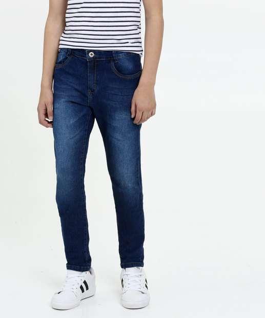 Image_Calça Juvenil Jeans Bolsos Skinny