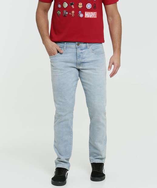 Image_Calça Masculina Jeans Delavê Slim