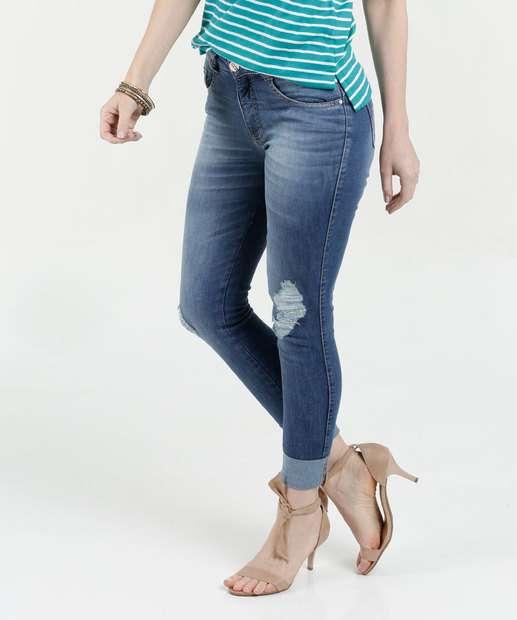 Image_Calça Feminina Jeans Cigarrete Destroyed Stretch Biotipo