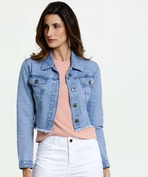 Image_Jaqueta Feminina Cropped Jeans Barra Desfiada Gups