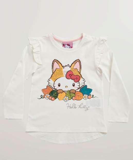 Image_Blusa Infantil Estampa Hello Kitty Manga Longa Sanrio