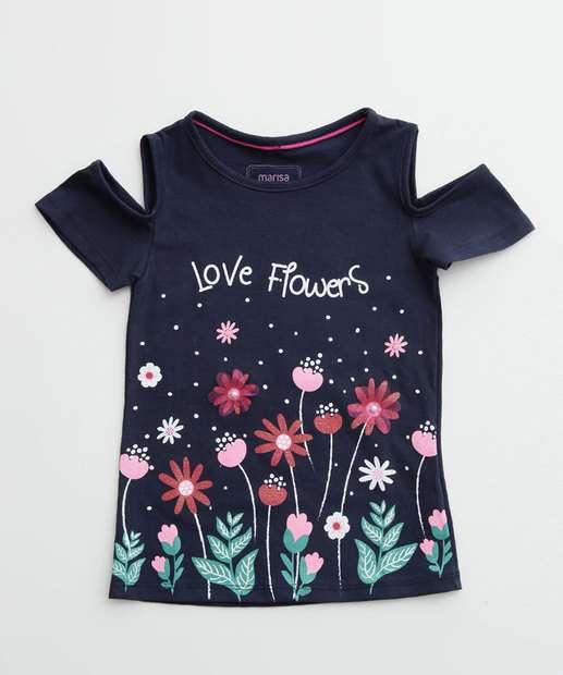 Image_Blusa Infantil Open Shoulder Estampa Flores Marisa