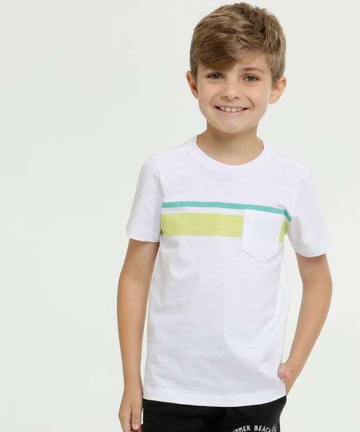 Image_Camiseta Infantil Flamê Bolso Manga Curta MR
